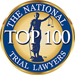 Logo Recognizing Law Office of Kevin J. McManus's affiliation with the National Trial Lawyers Top 100