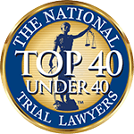 Logo Recognizing Law Office of Kevin J. McManus's affiliation with the National Trial Lawyers Top 40 under 40